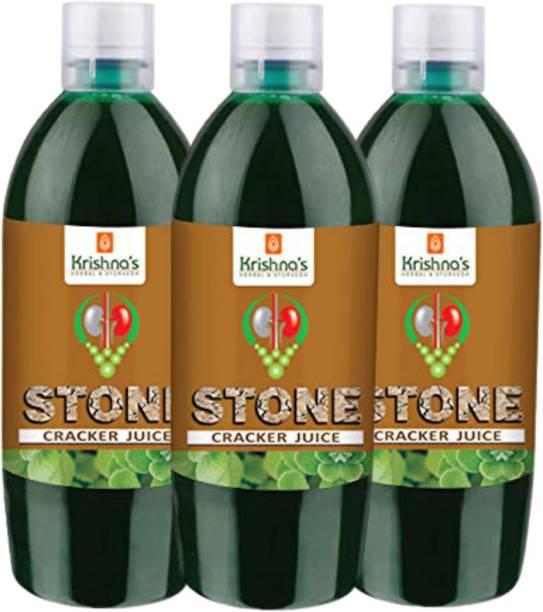 Krishna's Herbal & Ayurveda Stone Cracker Juice | Pure Ayurvedic and Natural | Breaks Down Kidney Stones | Helps Strengthen Kidneys Health | Cleanses Kidney and Urinary Bladder | Pack of 3 | 500 ml Each