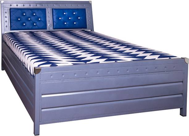 ROYAL METAL FURNITURE Textured Metal King Hydraulic Bed