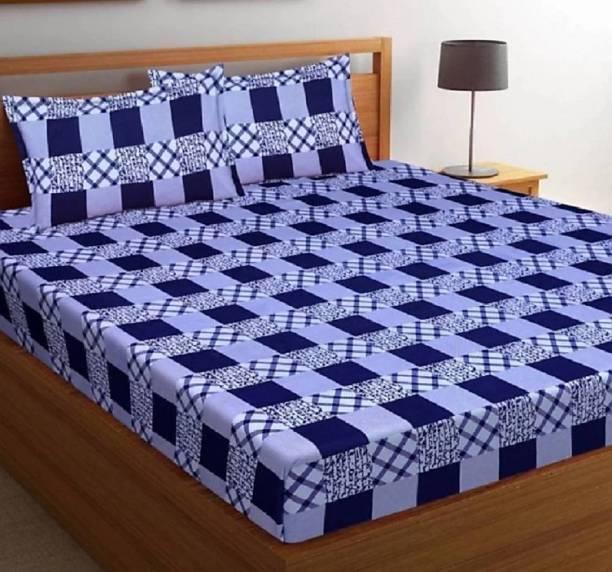 zabolon 140 TC Cotton Double 3D Printed Bedsheet