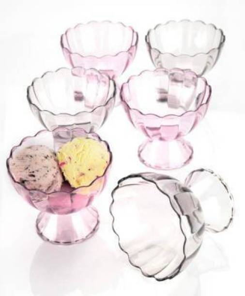 ASPIRAL Ice Cream Cup 6Pcs Set Plastic Disposable Serving Bowl