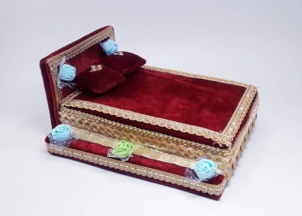 R D Handicraft R D Handicraft Thakur ji Bed, Laddu Gopal ji Bed, Bal Gopal ji Bed Silk All Purpose Chowki