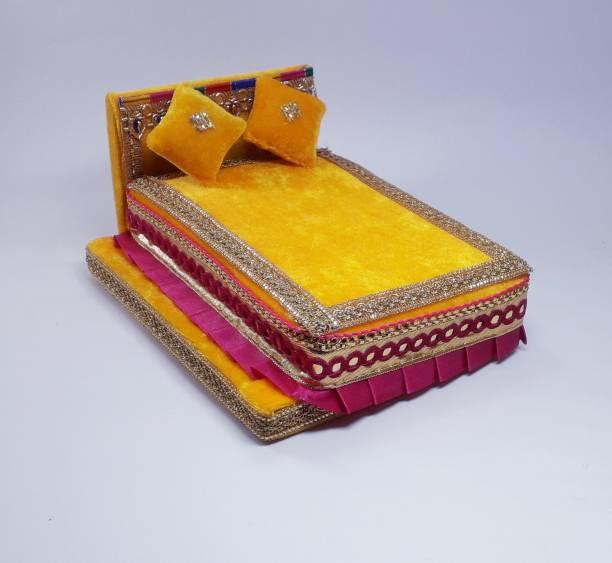 R D Handicraft R D Handicraft Thakur ji Bed, Laddu Gopal ji Bed, Bal Gopal ji Bed . Silk All Purpose Chowki