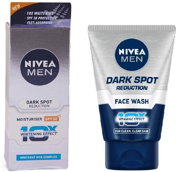 NIVEA Dark Spot Reduction Face Wash 100gm & Men Dark Spot Reduction Cream 50ml