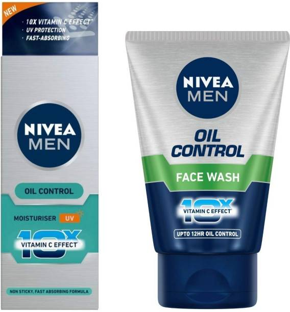 NIVEA Men Oil Control Moisturizer Cream 50 ml & men oil control face wash 100 gm.