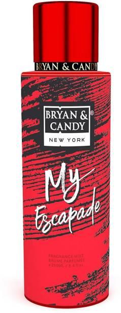 Bryan & Candy Newyork My Escapade Fragrance Body Mist Spray for Women (250ml) No Gas Perfume Body Mist  -  For Women