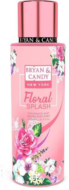 Bryan & Candy NewYork Floral Splash Fragrance Body Mist Spray for Women (250ml) No Gas Perfume Body Mist  -  For Women