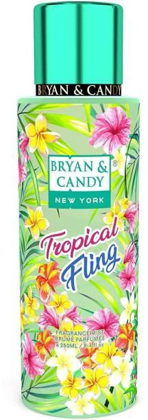 Bryan & Candy NewYork Tropical Fling Fragrance Body Mist Spray for Women (250ml) No Gas Perfume Body Mist  -  For Women