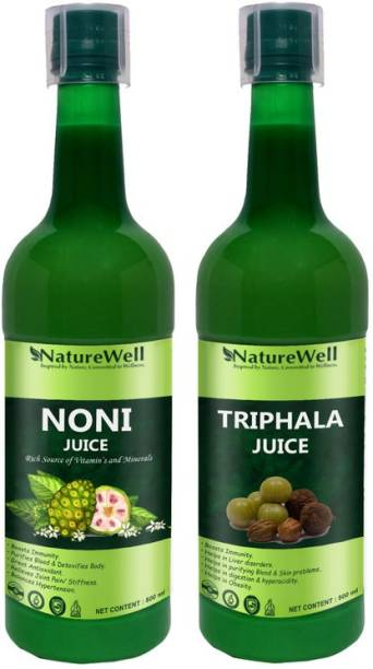 Naturewell Organics Triphala/Noni Juice - Digestion Care And Health Drink Juice (Pack of 2) Ultra
