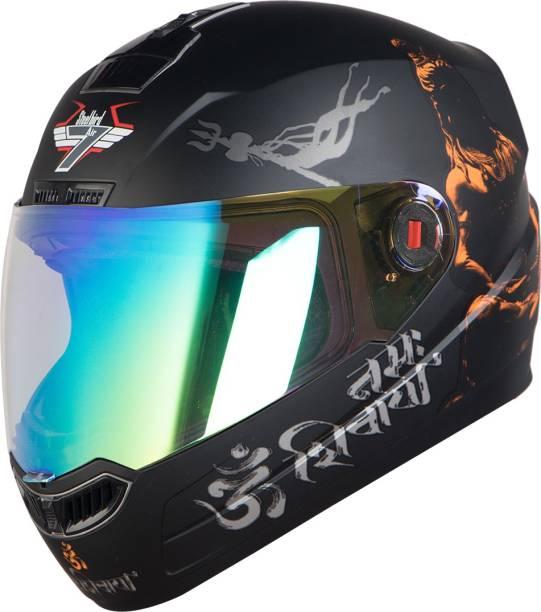 Steelbird SBA-1 Mahadev Full Face Helmet in Matt Black/Orange Motorbike Helmet