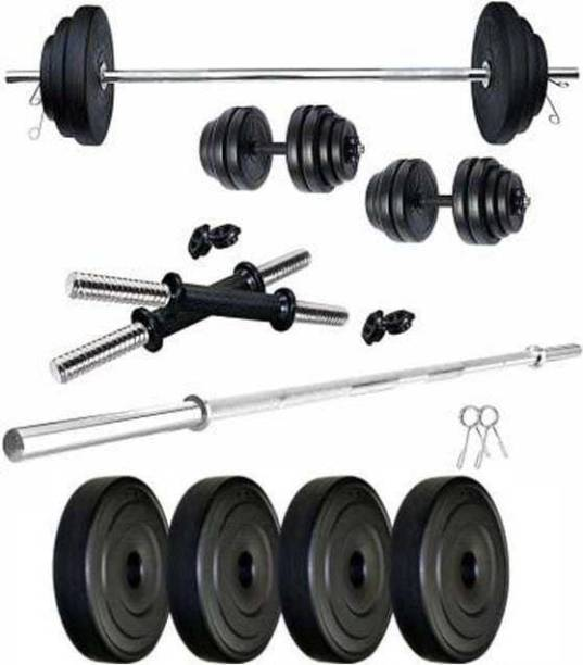 Mahadev Sports 10 kg 10 Kg pvc Home Gym Set Home Gym Combo