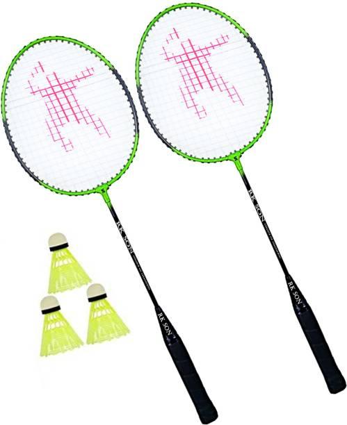 rk son SINGLE SHAFT MULTICOLOUR BADMINTION KIT RACQUET Badminton Kit