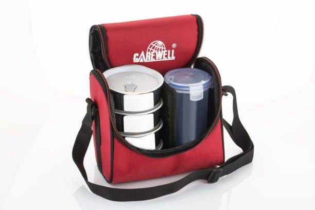 Carewell Champ Red 4 Containers Lunch Box