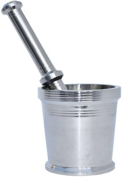 imPULSE Heavy Mortar And Pestle Set/ Khalbatta For Kitchen (Dia: 8.00. H: 8.00 Cm) Stainless Steel Masher
