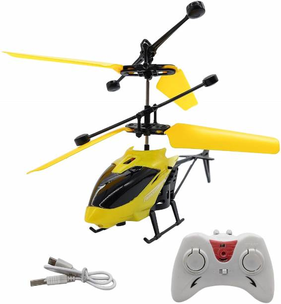ZUCLLIN Flight Electronic Radio RC Remote Control Toy Charging Helicopter Toys with 3D Light Toys for Boys Kids (Multicolour)