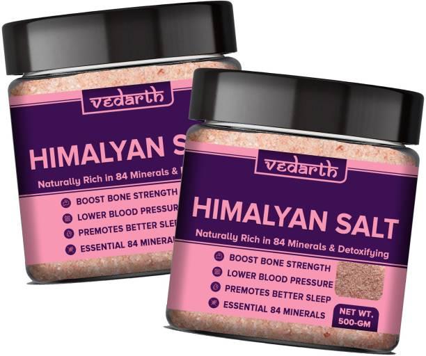 Vedarth Twin Pack of Himalayan Pink Salt (Mineral Salt) Pink Rock Salt for Healthy Cooking Himalayan Pink Salt