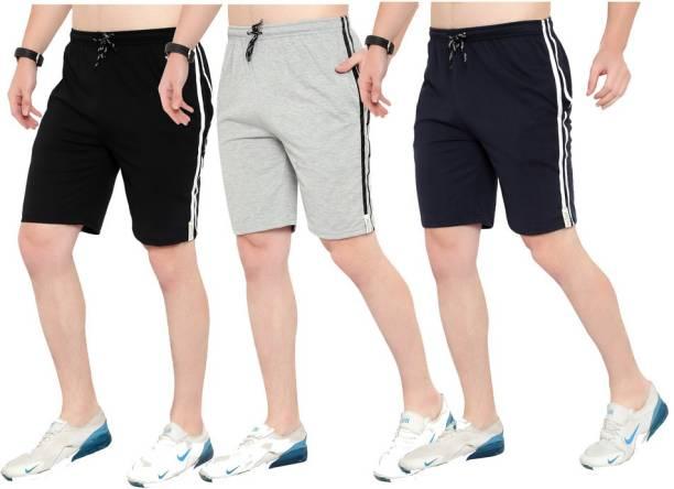 Saklana Solid Men Multicolor Regular Shorts