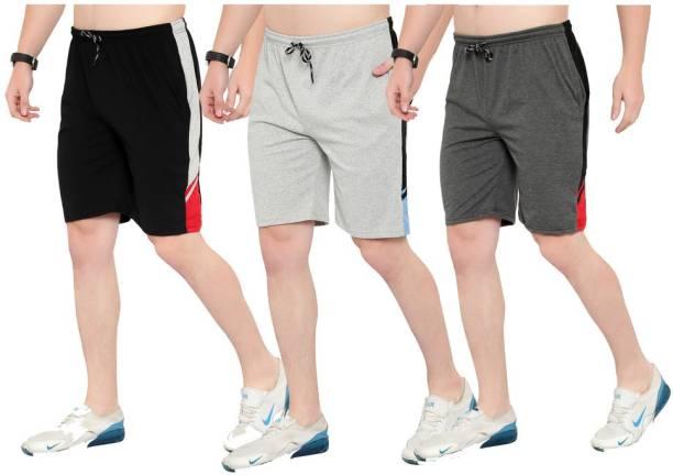 Saklana Striped Men Multicolor Regular Shorts