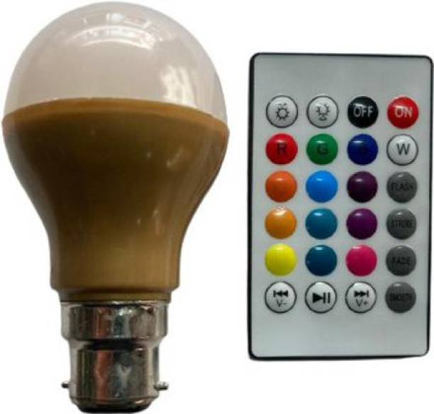 Shailputri NEW COLLECTION RGB SMART BULB WITH REMOTE 10 colours in 1 SMART BULB Smart Bulb