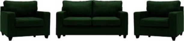 Mofi sofas Fabric 2 + 1 + 1 Green Sofa Set
