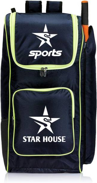Star House Unique Cricket Kit Bag for Professional Cricketers (Black)