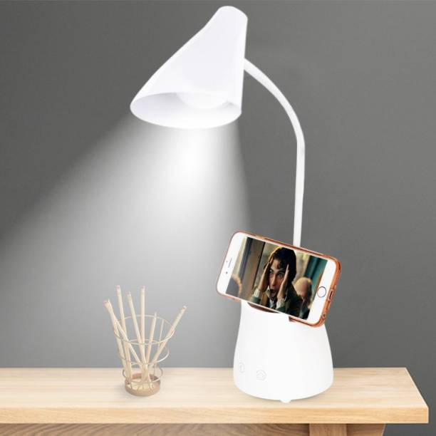 Pick Ur Needs Study Table Lamp Touch On/Off Switch LED Desk Lamp With Pen and Mobile Holder (5 IN 1) Study Lamp