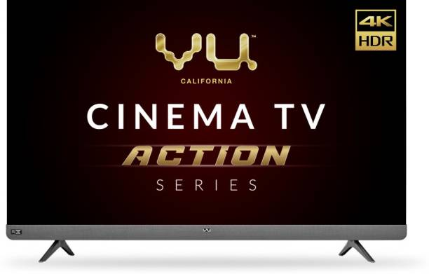 Vu Cinema TV Action Series 139 cm (55 inch) Ultra HD (4K) LED Smart Android TV with Sound by JBL
