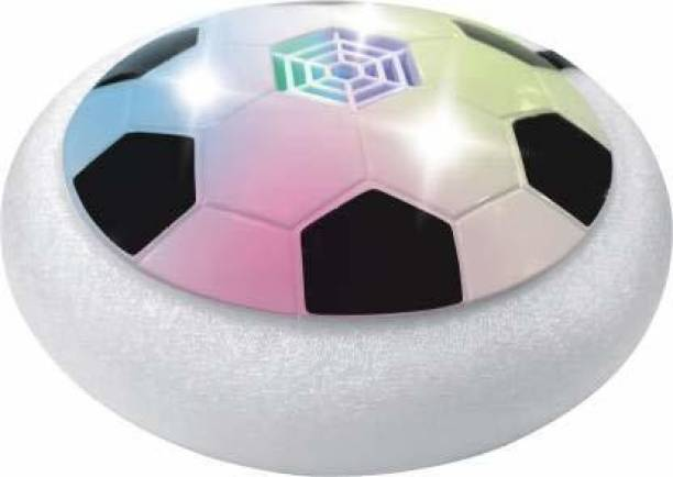 Kids creation Indoor Hover Football with Foam Bumper and LED Lights Air Football Board Game