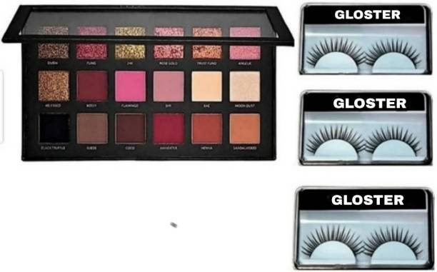 Gloster Eyeshadow With Waterproff Eyelashes (4 Items in the set)
