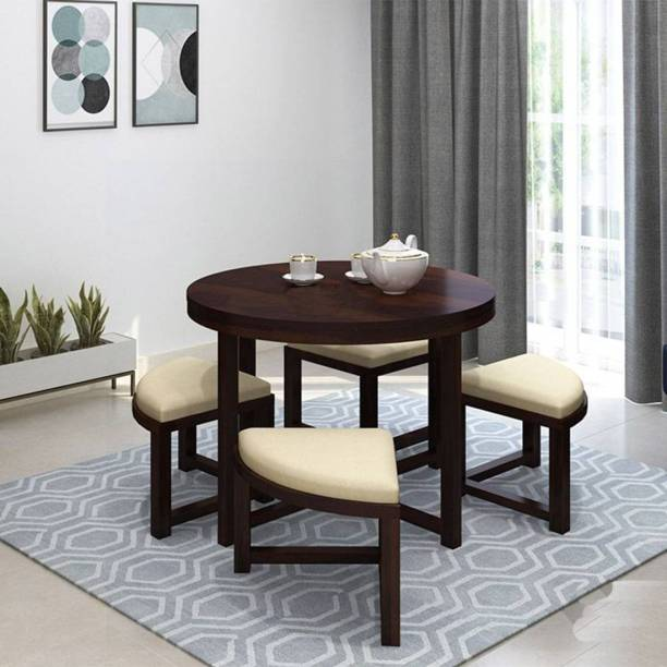 Ananya furniture Solid Wood 4 Seater Dining Set