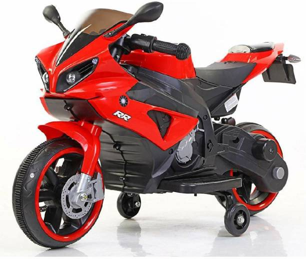 Toy Home Mini Yamaha R1 Battery Operated Rechargeable Electric Ride-on bikes With Hand Accelerator & Key Start & Wheels LED Light & MP3 Music System & Headlights for Kid's Bike Battery Operated Ride On Bike Battery Operated Ride On