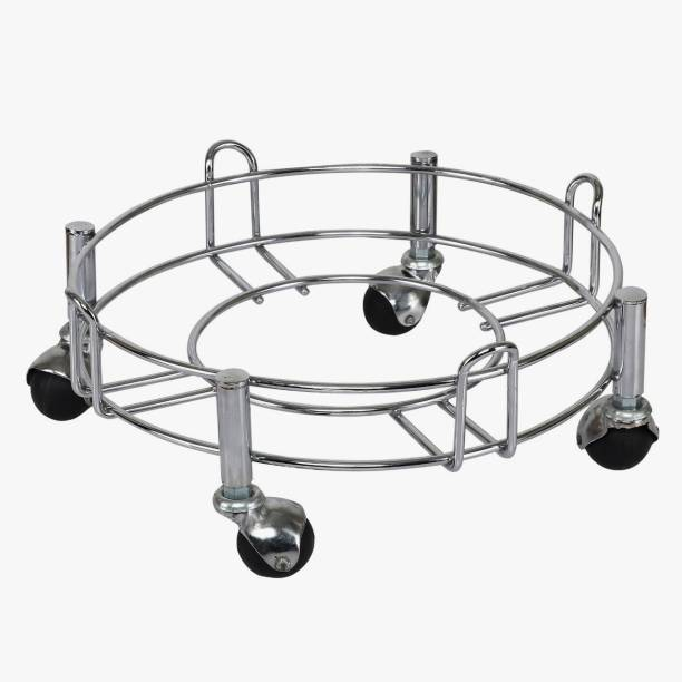Taxton Heavy Stainless Steel Gas Cylinder Trolley With Wheel | Gas Trolly | Lpg Cylinder Stand | Gas Trolly Wheel |Cylinder Trolley with Wheels | Gas Cylinder Trolley