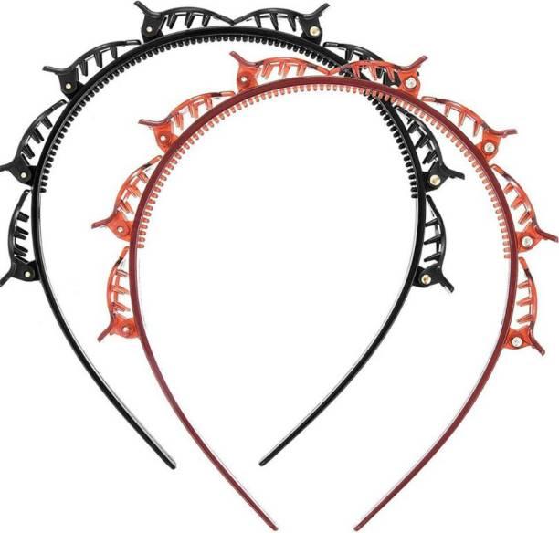Pancikaa Trending Hair Band Twister Hair Band Black and Brown Hair Band