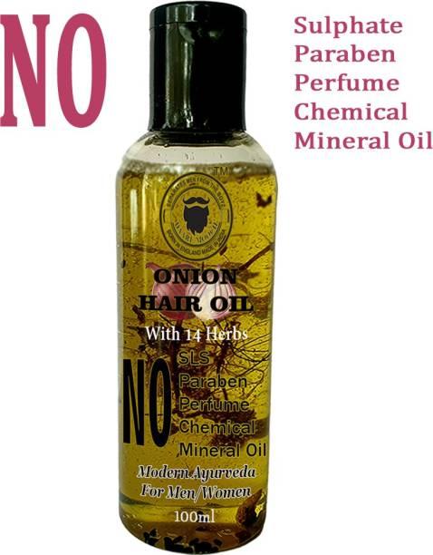 Daarimooch Onion Hair Growth Oil - Anti Hair Fall with 14 Herbs Hair Oil