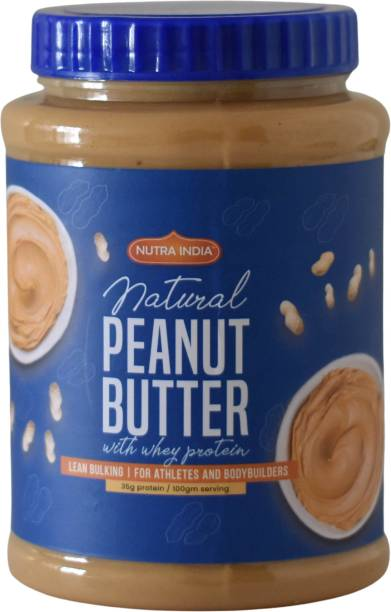 Nutra India Peanut Butter with Whey Protien 1000 g