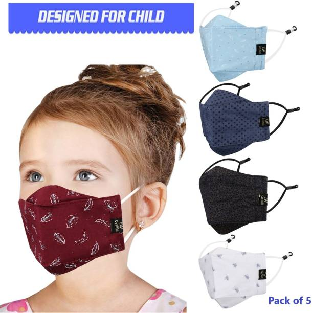 CENWELL 100 % Cotton Kids 3D Face Mask Reusable Washable Breathable Skin Friendly N95 Soft Cotton Fabric Face Mask with Adjustable Ear loops for Boys Girls Children Babies (Anti Pollution Mask , Anti Viral Mask , Anti Bacterial Mask ) (School Mask , Outdoor Mask , Kids Party Mask) (Child Mask , Kids Mask 3 years, Kids Mask 4 years , kids Mask 5 years , kids mask 6 years , kids mask 7 years , kids mask 8 years , kids mask 9 years , kids mask 10 years up to 14 yrs ) ( Mask for kids , boys , children , girls ) 3-KD-3 Cloth Mask