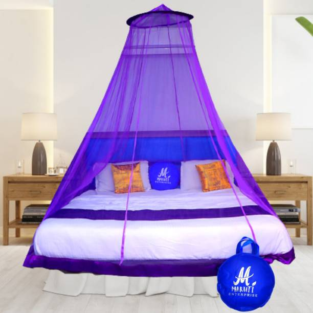 Maruti Enterprise Polyester Adults Double Bed (round) Mosquito Net