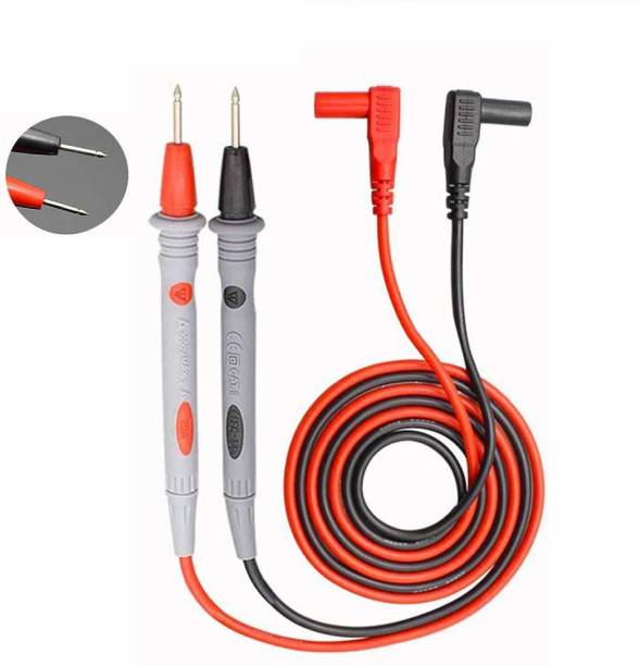 SYMFONIA 1000 Volt 20 Amp Universal Multimeter Lead Probes Plug Test Cable Wire Pen Thin Tip Needle for Multi Meter, Clamp Meter, Volt Meter, Electronic Work with Ultra Fine Imported High Quality Super Softer Anti freezing Silicon Probe for Digital Multimeter Digital Multimeter