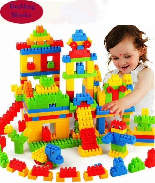 FRAONY Creativity 100 Pcs Blocks Game Set for Children My Smart Block Set, Educational Building Easy Design Model Kids Home Fun Toy Both Boys and Girls
