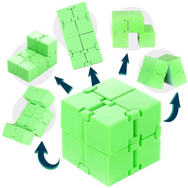 Shivsoft Infinity Cube for Stress Relief (Full Green)