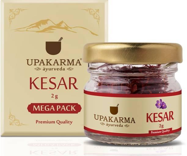 UPAKARMA Certified Natural, Pure and Organic Finest A++ Grade Kashmiri kesar- Saffron 2 Gram (Mega pack of 1)