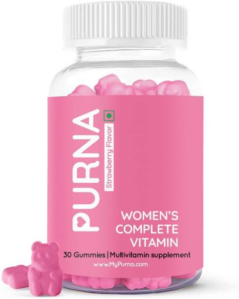 Purna Gummies Women's Immunity Multivitamin Strawberry Gummies - Vitamins A, C, D, E, B12