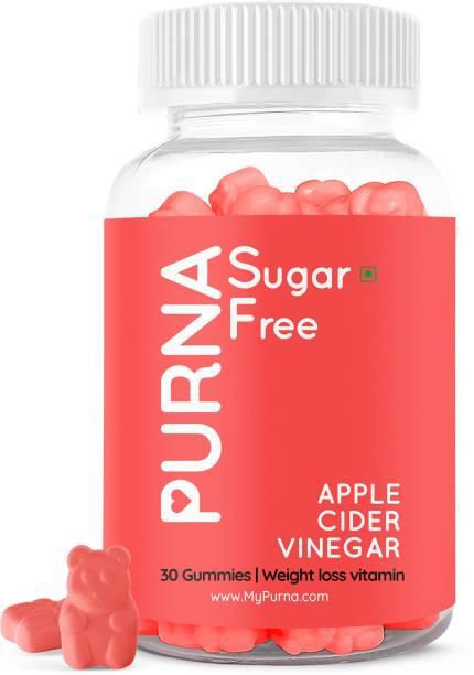 Purna Gummies Sugar Free Apple Cider Vinegar for Adults & Kids - Better Digestion & Clear Skin