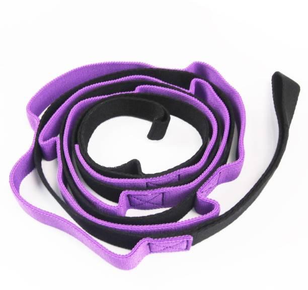 Leosportz 8 Loop Yoga Strap Made from Durable Nylon Cotton Yoga Strap