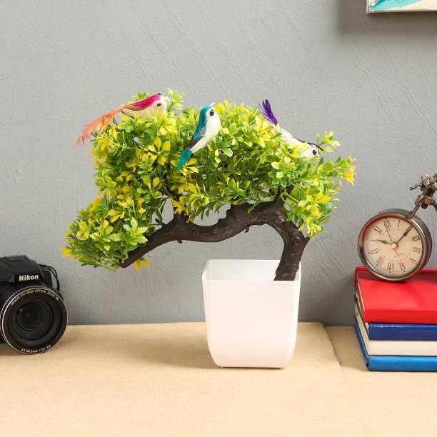Flipkart SmartBuy Green, Yellow Wild Flower Artificial Flower  with Pot