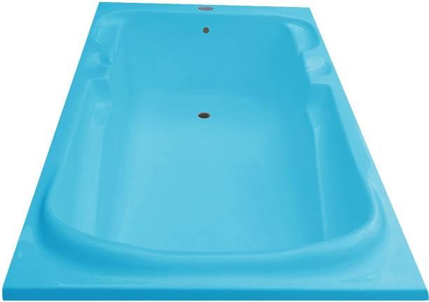 MADONNA Euro 5.5 Feet Fixed Acrylic Bathtub - Cyan Blue Euro Drop-in Bathtub