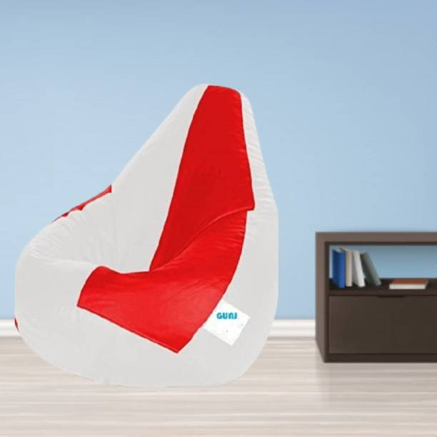 TRUE 2 F Large Tear Drop Bean Bag Cover  (Without Beans)