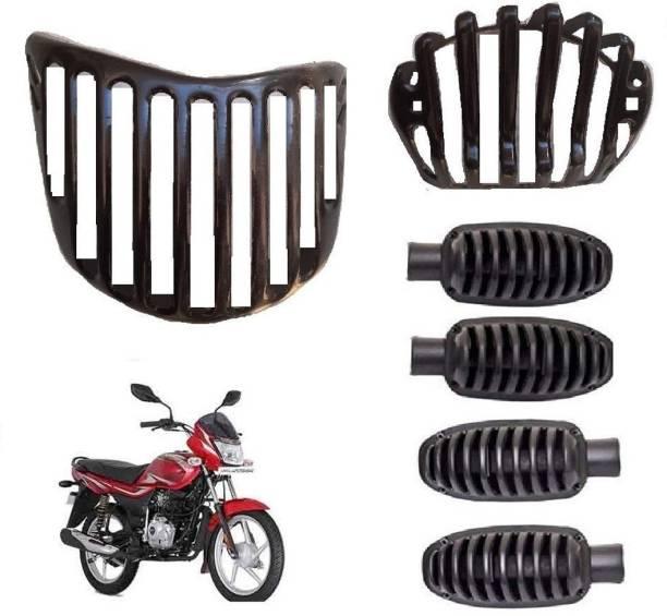 RWT Bike Combo Grill Set, Headlight, Indicator, Back Light Grill Bike Headlight Grill