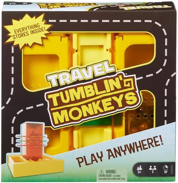 mattel GAMES Travel Tumblin' Monkeys Party & Fun Games Board Game