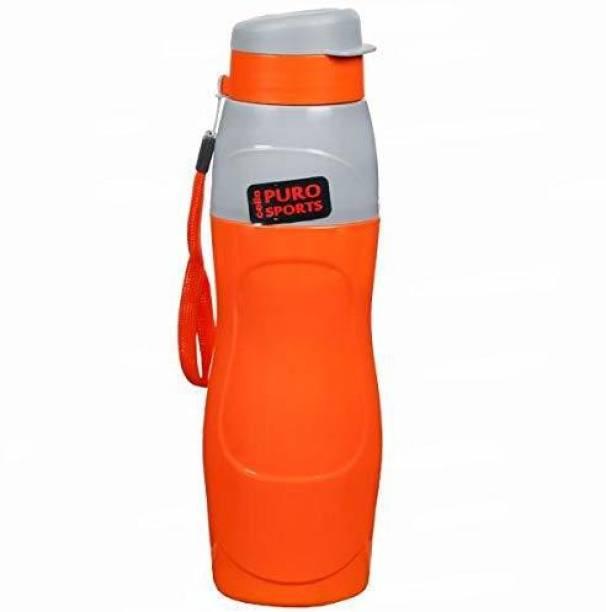 cello Puro Sports Water Bottle, 600ml, Orange 600 ml Bottle