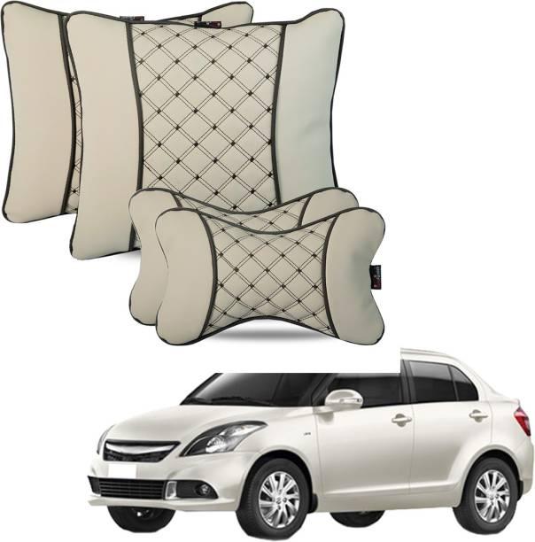 AutoFurnish Beige Leatherite Car Pillow Cushion for Maruti Suzuki